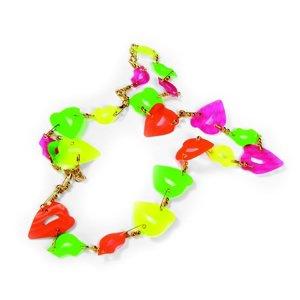 Neon Lips Necklace by Debi Adams