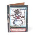 Merry Christmas Snowman Card by Tim Holtz
