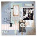 Wedding Scrapbook Page #2 by Debi Adams