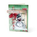 Merry Christmas Snowman Card #3 by Debi Adams