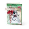 Merry Christmas Snowman Card #3 by Debi Adams