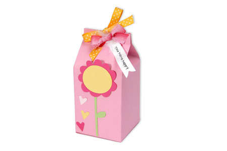 You Make Me Happy Flower Milk Carton by Deena Ziegler