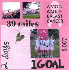 Scrap Pink Breast Cancer Walk