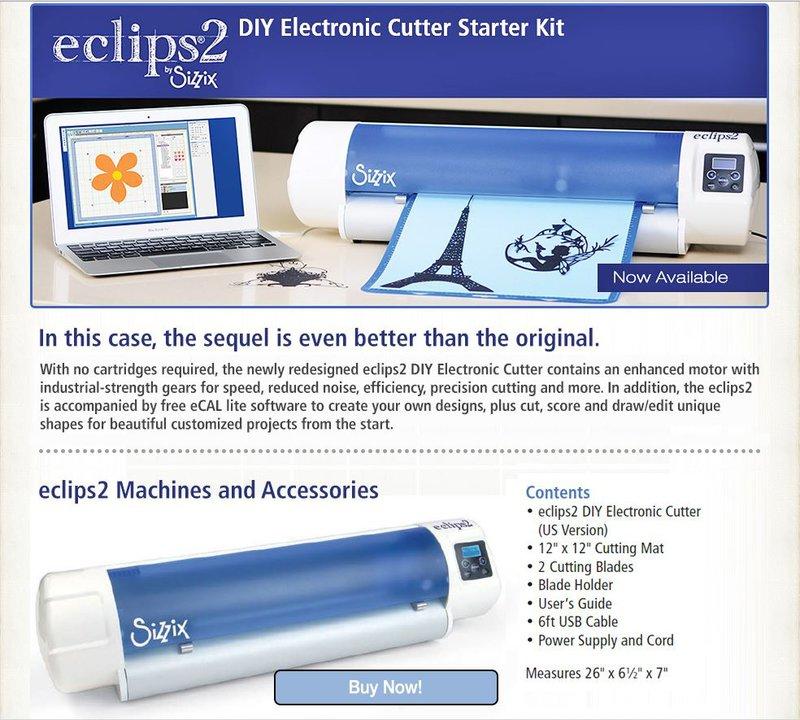 Sizzix Eclips2 Digital DIY Cutter