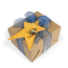 Embossed Star Gift Tag by Deena Ziegler
