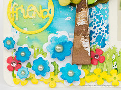 Happy Step Up card by Anna-Karin for Sizzix