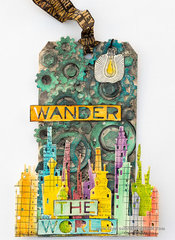 Mix Media Wander The World Tab by Anna-Karin for Sizzix