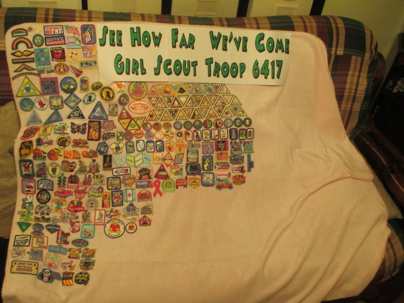 Girl Scout Patch Blanket