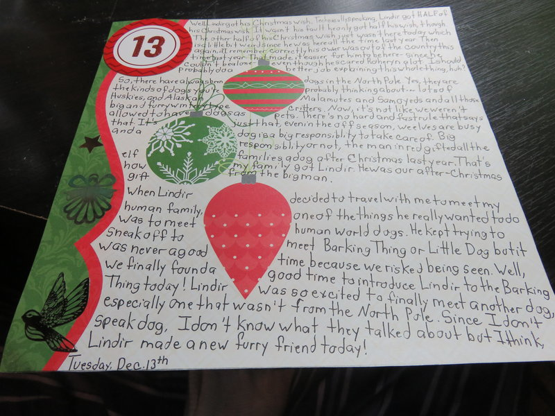 December Daily 2016 Day 13 Journaling