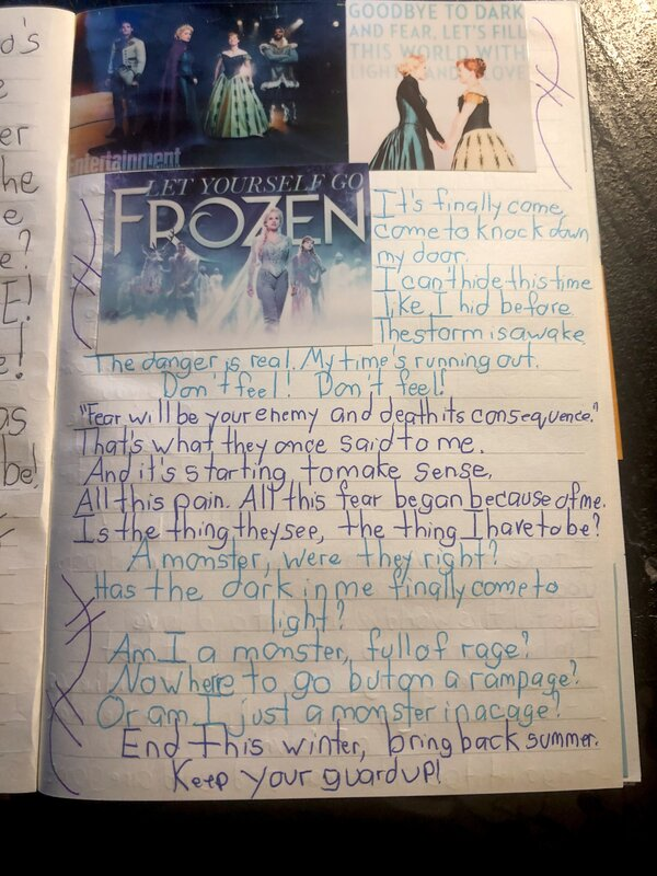 Disney Junk Journal- Frozen
