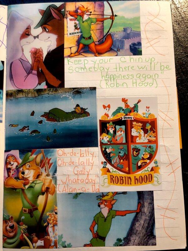 Disney Junk Journal- Robin Hood