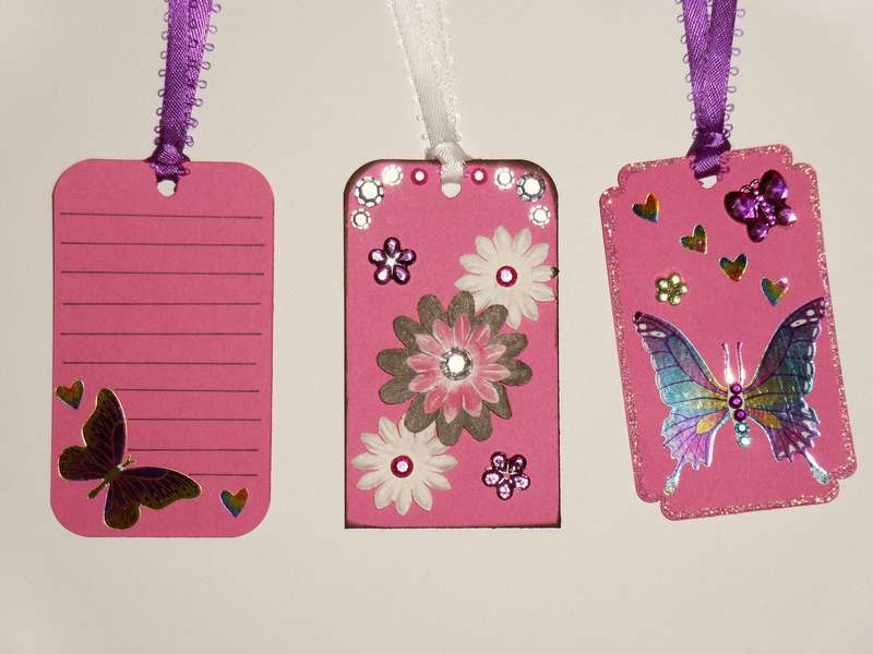 3 Pink Girly Tags