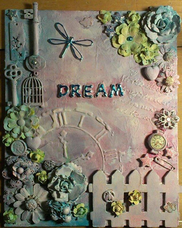 DREAM - Mixed Media Canvas
