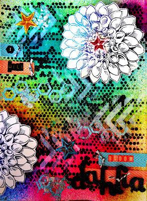 """Dahlia"" Art Journal Page"