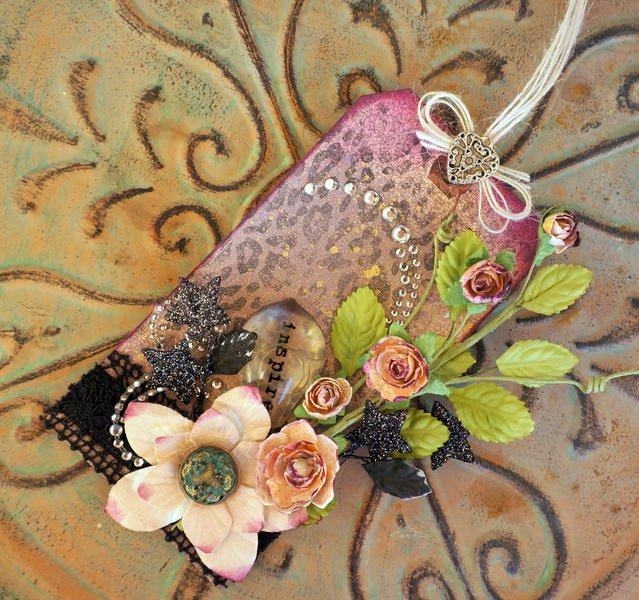 Pretty Floral Tag **May Arts**