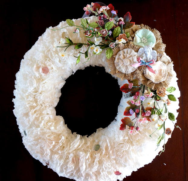 Coffee Filter Wreath **May Arts**