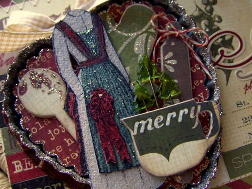 Merry Card Close Up ~ Antiquated Collection