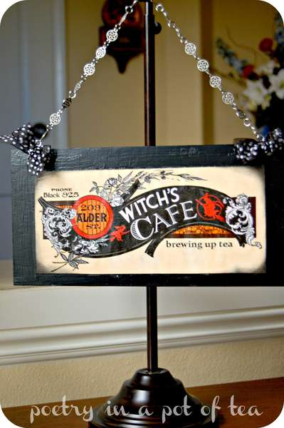 Witch's Cafe Hanging Sign