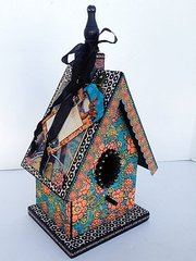 Steampunk Spells Altered Birdhouse