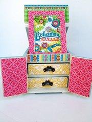 Bohemian Bazaar Altered Box