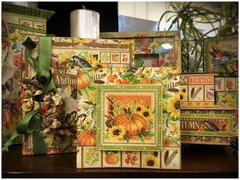 Autumn Mixed Media Albums featuring Graphic 45's Seasons Collection