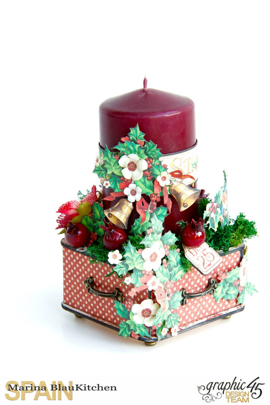 Candle Decor with St Nicholas