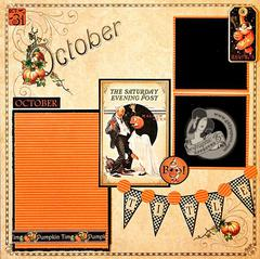 Graphic 45 - Place in Time October Layout