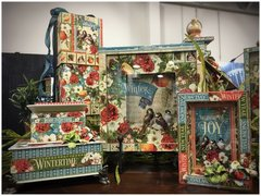 Winter Frames and Book Boxes made with Seasons by Graphic 45
