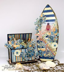 Magda's Surfboard Frame and Ocean Fun Box Home Decor