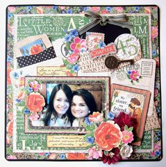 Sisters Layout with Little Women Collection