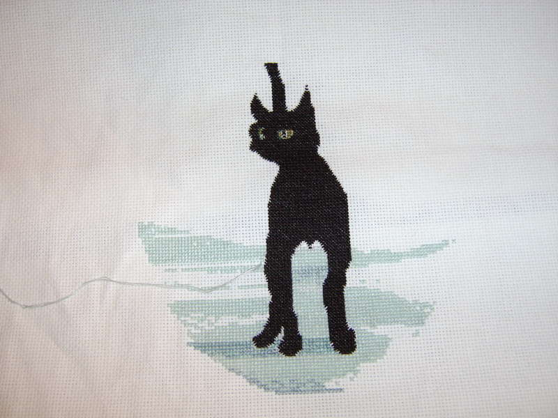Cross Stitch WIP ~ P Buckley Moss *Cinders*
