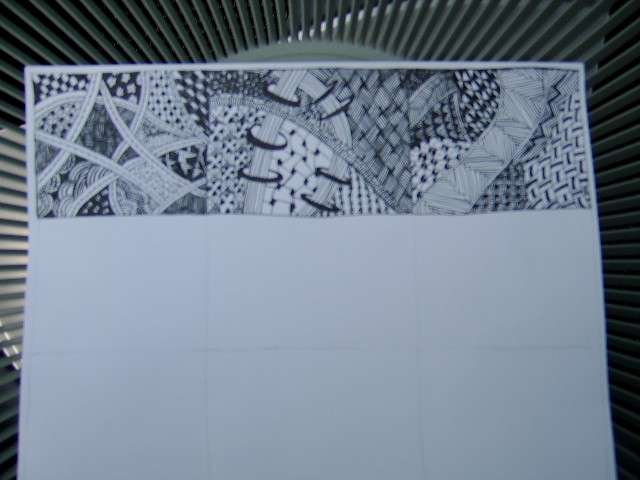 Third Square ~ Zentangle Sampler