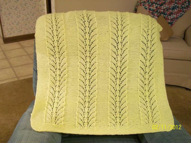 Knitted Yellow Baby Afghan for Sophie