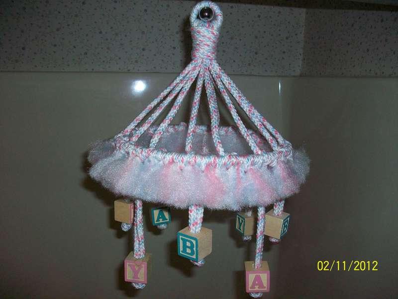 Macramed Baby Mobile