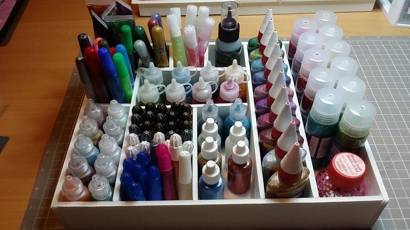 Glitter pens, stickles, glitter glues
