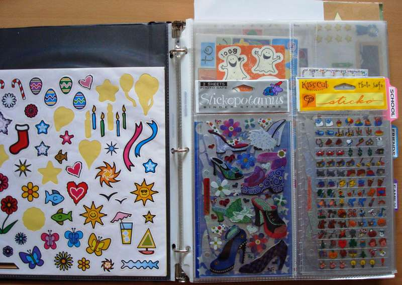 Stickers Storage