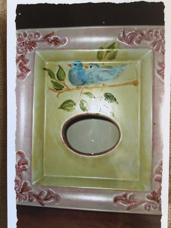 China Painted Tea Light Frame
