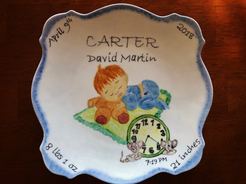 BABY PLATE - CHINA PAINTING!