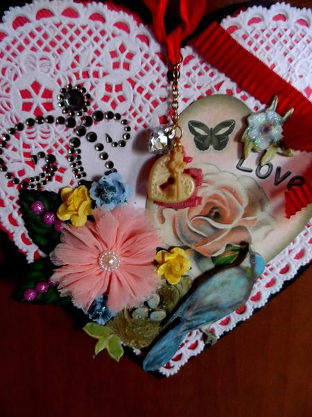 VALENTINE WALL HANGING - UP CLOSE!
