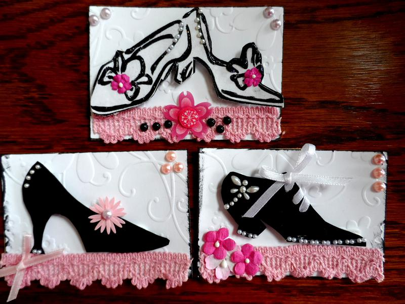 BLACK & WHITE + 1 COLOR ATCs!