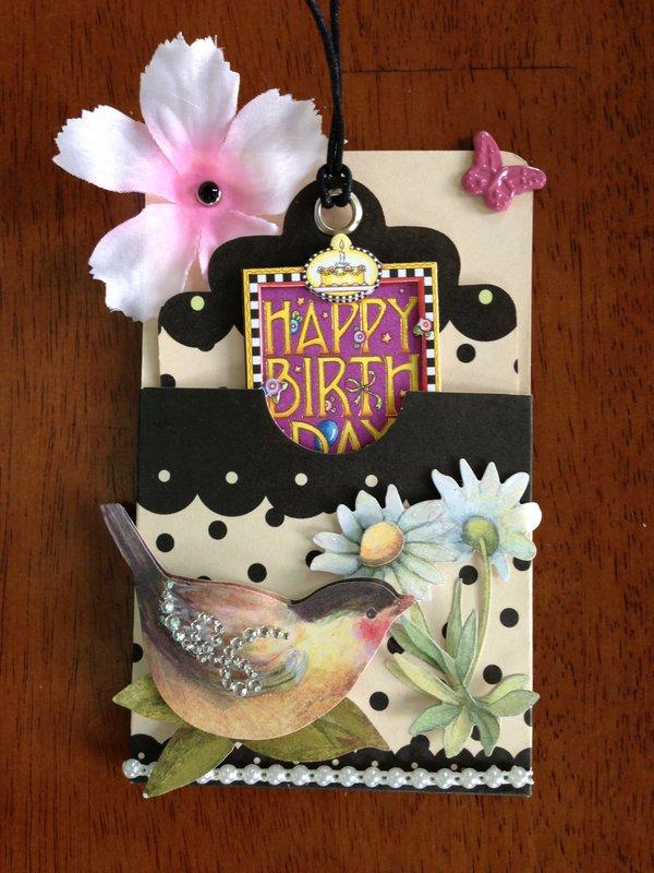 BIRTHDAY CARD/TAG!