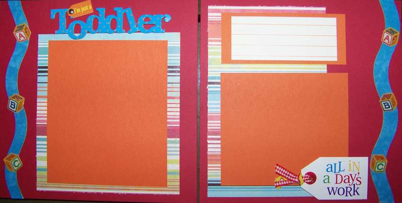 Premade Toddler pages