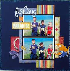 Fishing in Paradise ~My Creative Scrapbook~