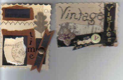 Time Vintage Scrapbook Card making Tags