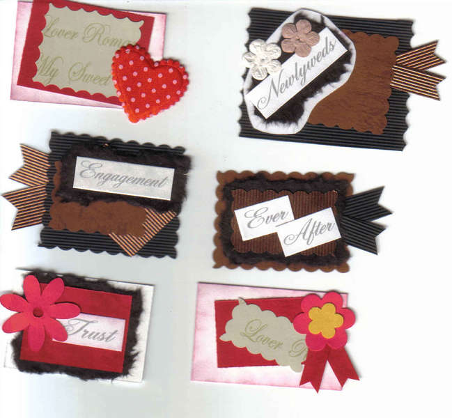 Newlyweds Engagement Ever After Trust Handmade scrapbooking card making Tags