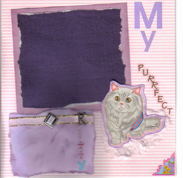 Premade  Scrapbook Page Pet Cat ~My PURRFECT Kitty~