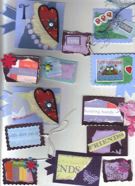 13 Mixed Scrapbooking card making handmade tags