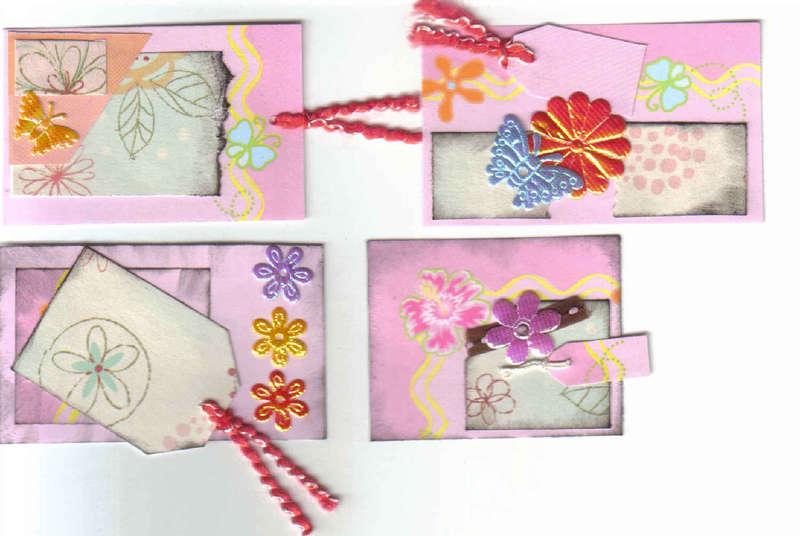 Handmade Scrapbooking Card Making Tags