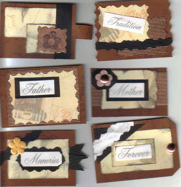Mother Father Memories Forever Tradition Scrapbook Card making Tags