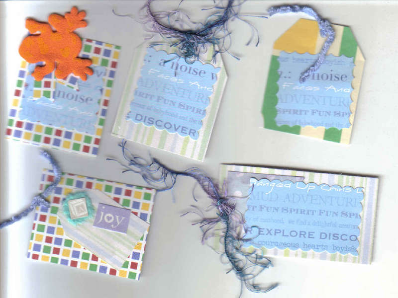 Unique Handmade Tags for scrapbooking Card making!